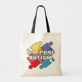 Support Autism Awareness Puzzle Pieces Bags