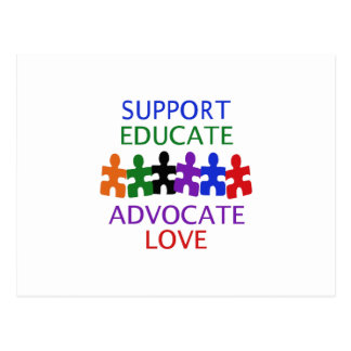 SUPPORT AUTISM POSTCARD