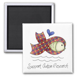 Support Autism Research Fridge Magnet