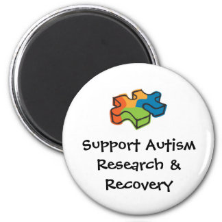 Support Autism Research & Recovery 6 Cm Round Magnet