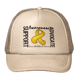 Support Awareness Advocate Cure Childhood Cancer Cap
