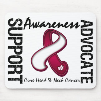 Support Awareness Advocate Cure Head Neck Cancer Mousepad