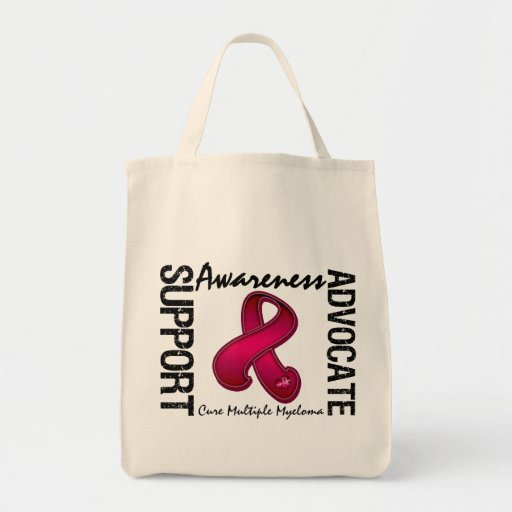 Support Awareness Advocate Cure Multiple Myeloma Tote Bag