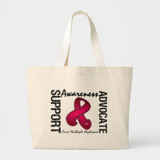 Support Awareness Advocate Cure Multiple Myeloma Tote Bags