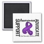 Support Awareness Advocate End Domestic Violence Fridge Magnets