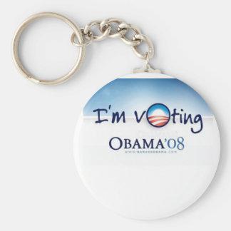Support Barack Obama, VOTE FOR CHANGE! Basic Round Button Key Ring
