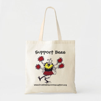 Support Bees Tote Bag