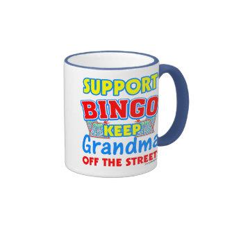 Support Bingo Grandma Ringer Mug