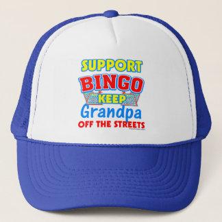 Support Bingo Grandpa Trucker Hat