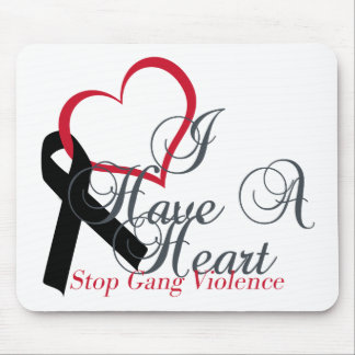 Support Black Ribbon Stop Gang Violence Mousepads