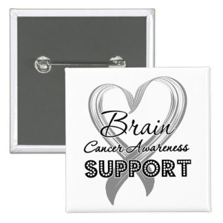 Support Brain Cancer Awareness 15 Cm Square Badge