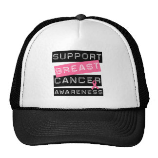 Support Breast Cancer Awareness Mesh Hats