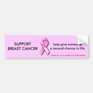SUPPORT BREAST CANCER Bumper Sticker. Bumper Sticker