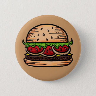Support burgers humor button