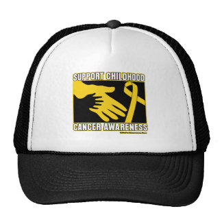 Support Childhood Cancer Awareness Abstract Hands Cap