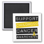 Support Childhood Cancer Awareness Square Magnet