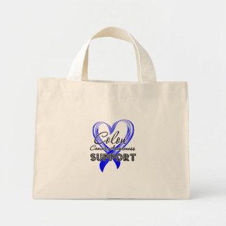 Support Colon Cancer Awareness Mini Tote Bag