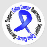 Support Colon Cancer Awareness Round Sticker