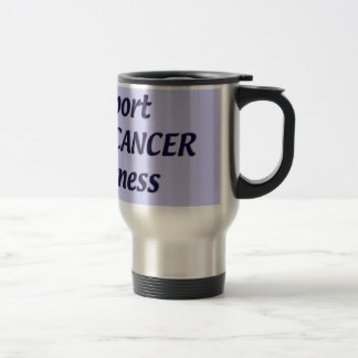 SUPPORT COLON CANCER TRAVEL MUG