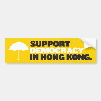 Support Democracy in Hong Kong Bumper Stickers