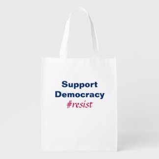 Support Democracy Resistance Red White And Blue