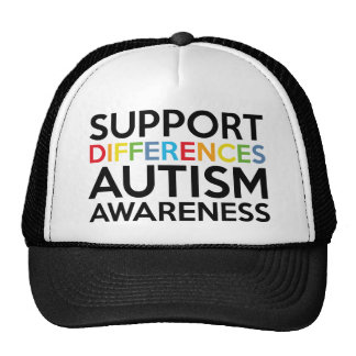 Support Differences Autism Awareness Hats
