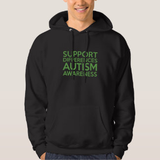 Support Differences Autism Awareness Sweatshirts