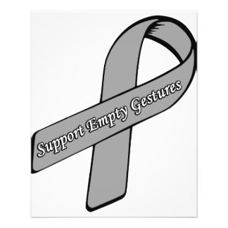 Support Empty Gestures Ribbon 11.5 Cm X 14 Cm Flyer