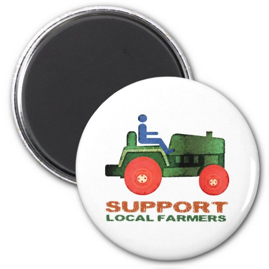 Support Farmers 6 Cm Round Magnet