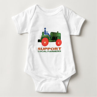 Support Farmers Baby Bodysuit