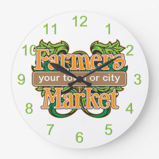 Support Farmers Market Large Clock