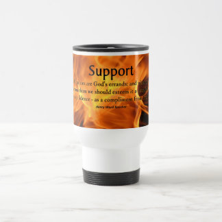 Support for Difficulty Stainless Steel Travel Mug