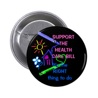 support for the healthcare bill buttons