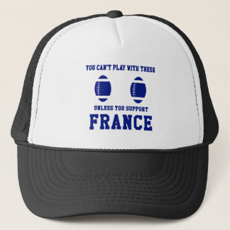 Support France Rugby T Shirt Trucker Hat