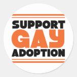Support Gay Adoption Round Stickers