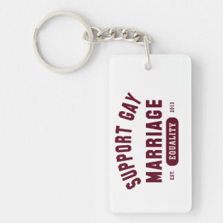 Support Gay Marriage Equality Keychain