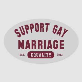 Support Gay Marriage Equality Sticker