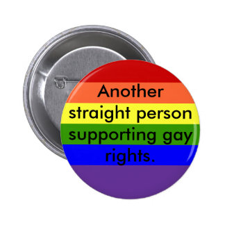 Support Gay Rights 6 Cm Round Badge