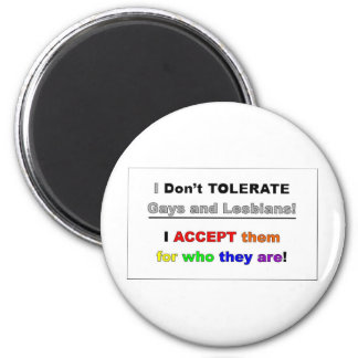 Support Gays and Lesbians 6 Cm Round Magnet