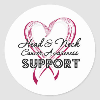 Support Head and Neck Cancer Awareness Stickers