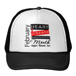 Support Heart Disease Awareness Month Hats