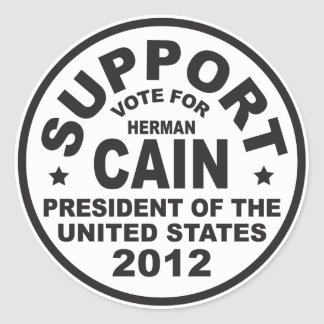 Support Herman Cain 2012 Stickers