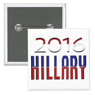 Support Hillary 2016 15 Cm Square Badge