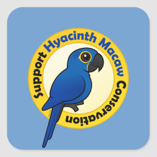 Support Hyacinth Macaw Conservation Square Sticker