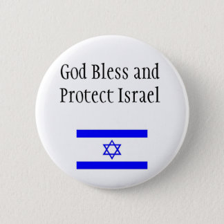 Support Israel Button/Pin 6 Cm Round Badge