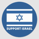 Support Israel Round Sticker