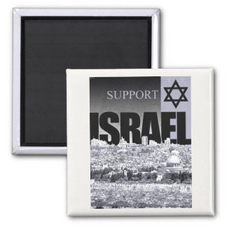 Support Israel Square Magnet