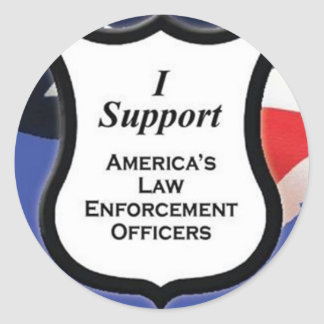 Support Law Enforcement Round Sticker