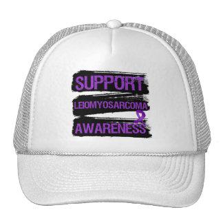 Support Leiomyosarcoma Awareness Grunge Mesh Hats