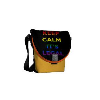 Support LGBT Gay Lesbian Rainbow Messenger Bag